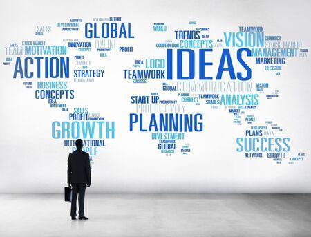 Businessman Planning Strategy Vision Creativity Ideas Concept photo