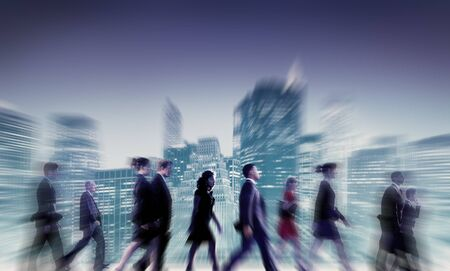 commuter: Business People Commuter Cityscape Team Concept Stock Photo
