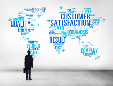 up service: Customer Satisfaction Reliability Quality Service Concept Stock Photo