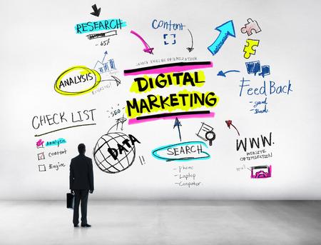 Digital Marketing Branding Strategy Online Media Concept Stock Photo