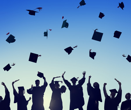 Viering Education Graduation Student Succes Learning Concept Stockfoto
