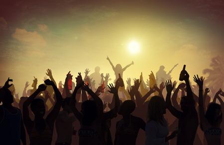 ビーチ夏音楽コンサート屋外レクリエーション活動のコンセプト