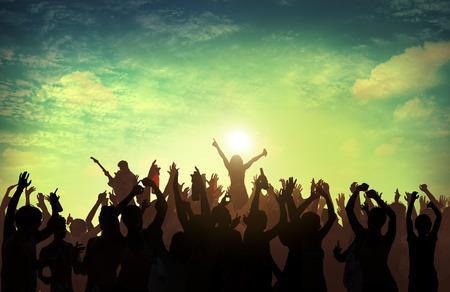 Beach Summer Music Concert Outdoors Vrijetijdsbesteding Concept Stockfoto