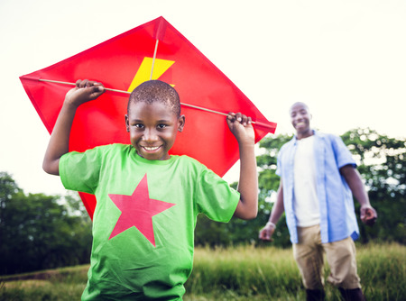 african american boy: African Family Happiness Holiday Vacation Activity Concept
