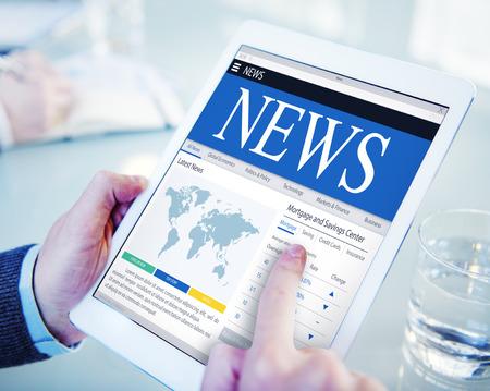 news update: News Update Latest Information Headline Media Article Concept