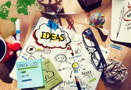 Ideeën Designer Desk Architectural Gereedschap Notebook Office Concept Stockfoto