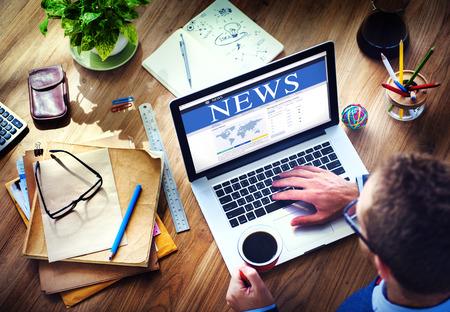 Digital Online Globale News Update-Konzept Standard-Bild - 39196127
