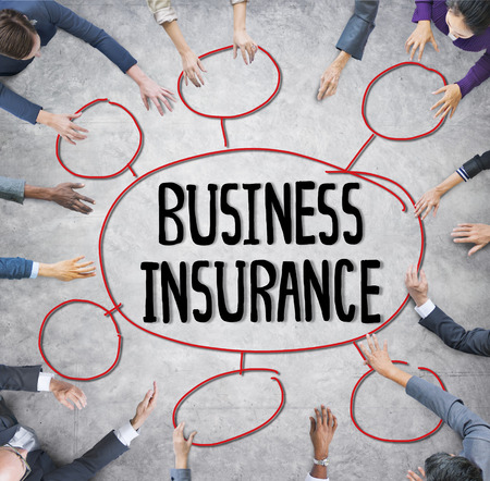 business protection: Insurance Business Protection Safety Planning Office Meeting Concept