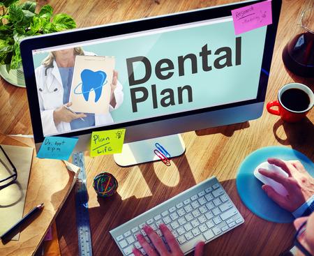 Dental Plan Voordelen Tandarts Medical Healthcare Hygiene Concept Stockfoto