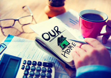 our: Businessman Notepad Our Home Concept