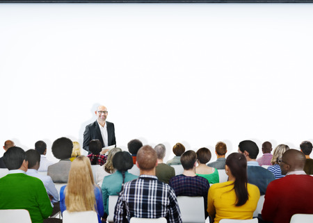 audience: Seminar Conference Meeting People Learning Presentation Audience Concept Stock Photo
