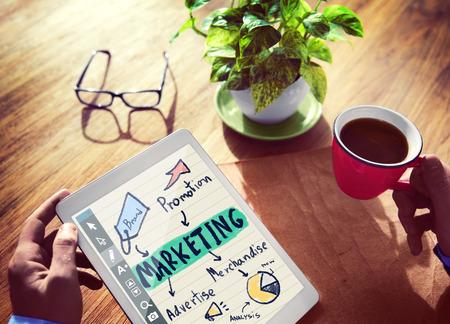 Digital Device Online Marketing Concept Stock Photo