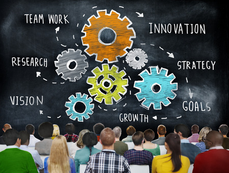 Teamwork Research Vision Strategy Goals Growth Innovation Concept Stock Photo