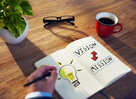 Businessman Motivation Vision Mission Ideas Creativity Concept Imagens