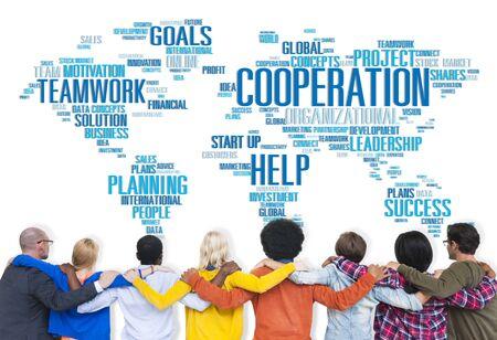 coworker: Coorperation Business Coworker Planning Teamwork Concept