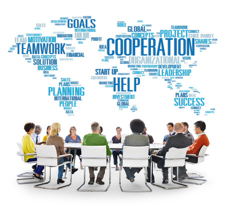 Coorperation Business Coworker Planning Teamwork Concept photo