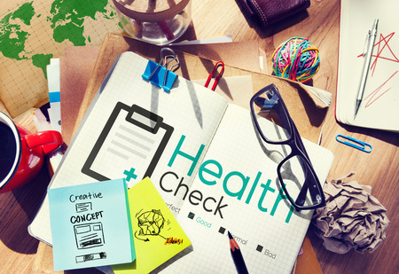workplace wellness: Health Check Diagnosis Medical Condition Analysis Concept