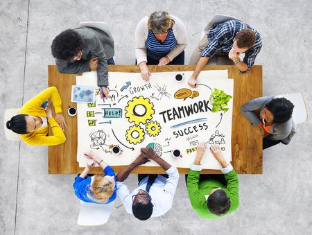 Teamwork Team Together Collaboration Meeting Brainstorming Ideas Concept Stok Fotoğraf