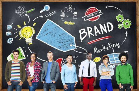team: Diverse People Togetherness Team Marketing Brand Concept
