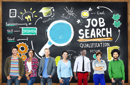 estudiantes: Etnia Gente de negocios Carrera Trabajo Buscar Concepto Foto de archivo
