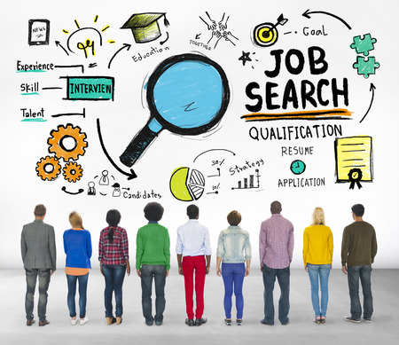 find: Ethnicity Business People Searching Job Search Recruitment Concept