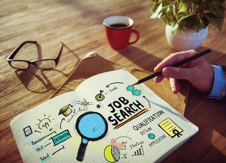 Homme d'affaires Recherche d'emploi Designer Bureau Woringk Concept Banque d'images - 39197258