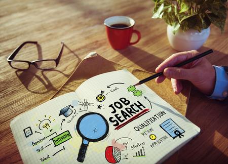 job search: Businessman Job Search Designer Office Woringk Concept Stock Photo
