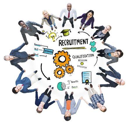 round collar: Diversity People Friendship Teamwork Recruitment Concept
