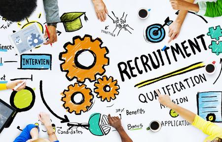 recursos humanos: Diversidad Manos Empleo Búsqueda de Oportunidades Concept