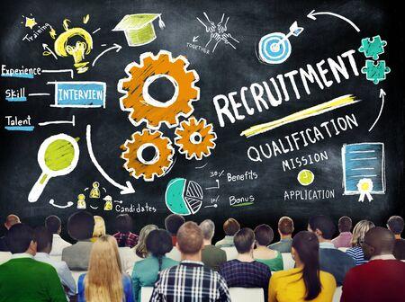 Multi Ethnic Group People Recruitment Seminar Concept photo