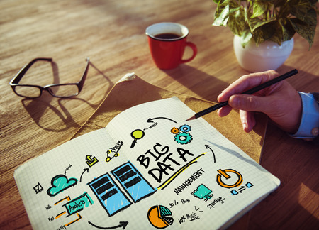 the big: Empresario Big Data Design Planificación Información Concept