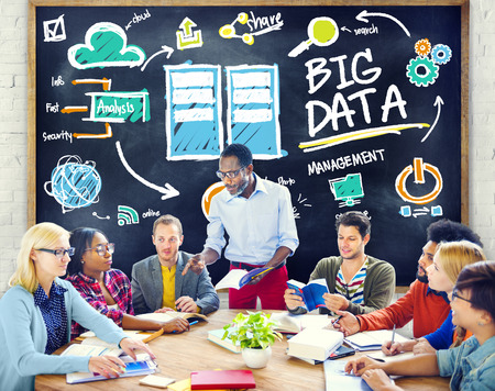 Diversity People Big Data Learning Information Studying Concept photo