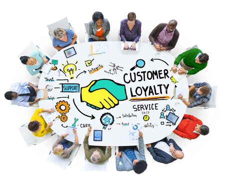 Customer Loyalty Service Support Care Trust Casual Concept photo