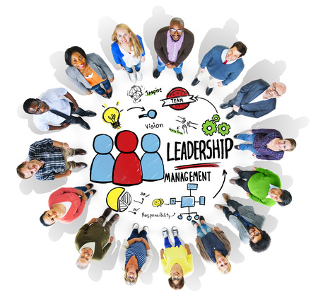 Diversity People Leadership Management Looking Up Concept Stock Photo