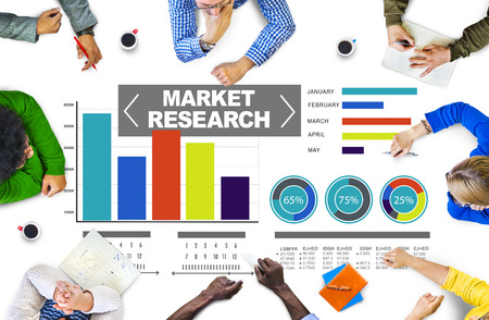 Market Research Business Percentage Research Marketing Strategy Concept Standard-Bild