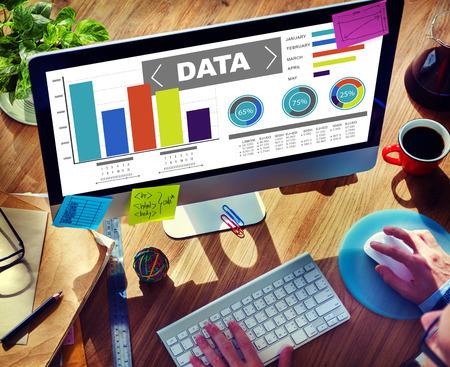 Gegevens Analytics Grafiek Rendement Patroon Statistieken Informatie Concept