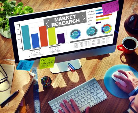 Investigación del mercado Porcentaje de Investigación de Mercados Estrategia Concepto Foto de archivo - 39197612