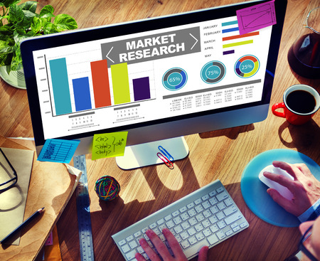 place of research: Market Research Business Percentage Research Marketing Strategy Concept Stock Photo