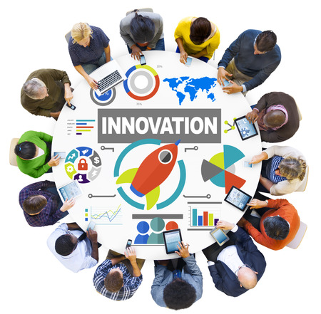 innovation growth: People Digital Device Creativity Growth Success Innovation Concept Stock Photo
