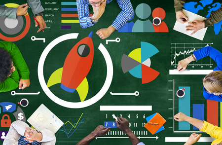 learning: New Business Chart Innovation Teamwork Global Business Concept Stock Photo