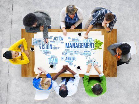 management training: Global Management Training Vision World Map Concept Stock Photo