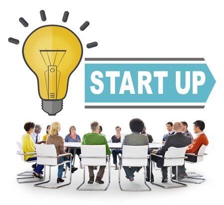 start up: Start up strategy concept
