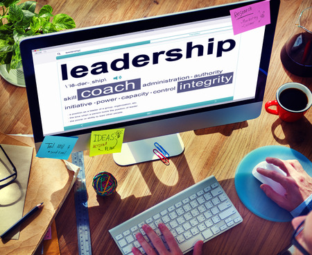 place to learn: Digital Dictionary Lead Strategy Integrity Concept Stock Photo