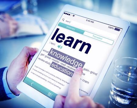 Digitale Wörterbücher Erfahren Sie Wissens Education Concept Standard-Bild - 39198199