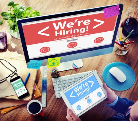 Business Worker Recruitment Hiring Office Working Concept