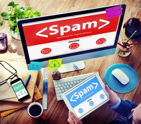 スパム ウイルス コンピューター監視インターネット セキュリティの概念