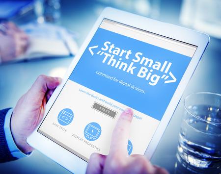 Ideas Start Business Challenge Office Working Concept