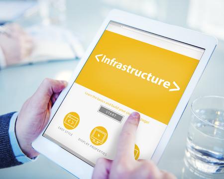 organisational: Digital Online Infrastructure Organization Facilities Office Browsing Concept