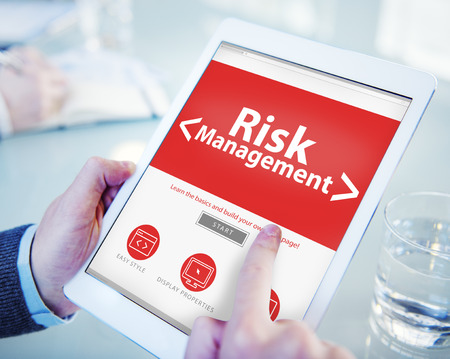 damage control: Digital Online Risk Management Office Working Concept
