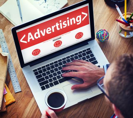 デジタル オンライン web ページ広告マーケティングの概念